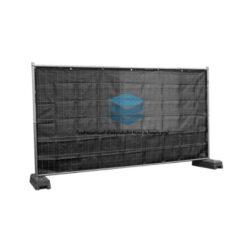 Zwart winddoorlatend bouwhekdoek 176x341cm 150gr