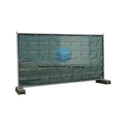 Donkergroen winddoorlatend bouwhekdoek 176x341cm 220gr