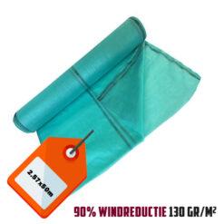 Groen steigernet 2.57x50m 130gr/m² 90% windreductie