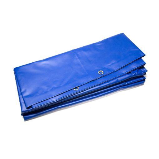 Waterdicht PVC dekzeil blauw 600gr/m²