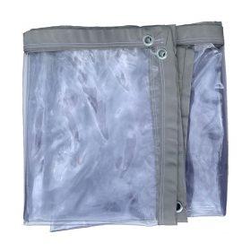 PVC zeil transparant op maat gemaakt