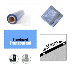 Nieuw! Transparant PVC afdekzeil op maat gemaakt