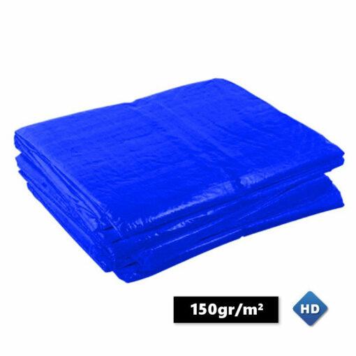 Blauwe afdekzeilen 150gr/m²