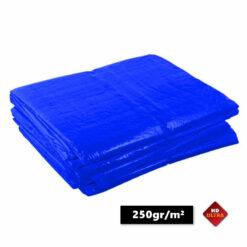 Blauwe afdekzeilen 250gr/m²