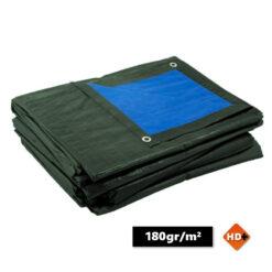 Afdekzeilen blauw/groen 180gr/m² | Afdekproducten.nl