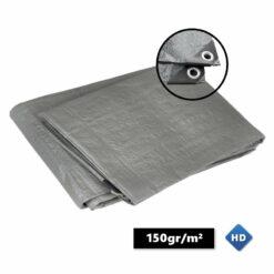Grijze afdekzeilen 150gr/m²