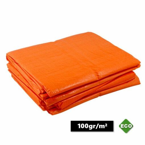 Oranje afdekzeilen 100gr/m²