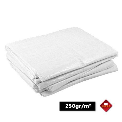 Witte afdekzeilen 250gr/m²