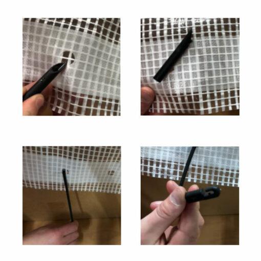 Bevestiging flexibele snelbinder 30cm | Afdekproducten.nl