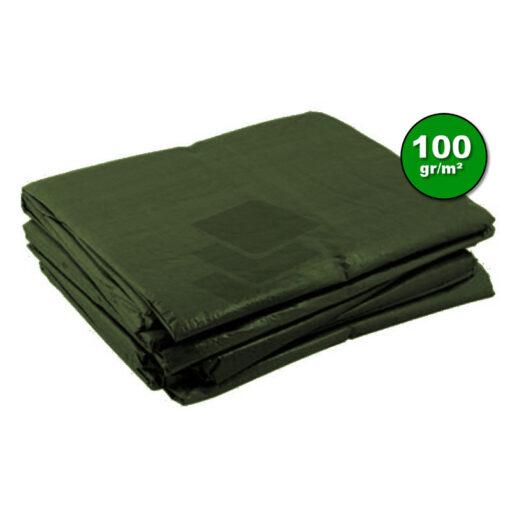 Groen afdekzeil 100gr | Afdekproducten.nl