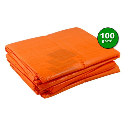 Oranje afdekzeil 100gr | Afdekproducten.nl