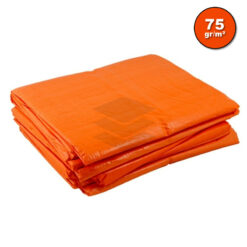 Oranje afdekzeil 75gr | Afdekproducten.nl