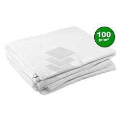 Wit afdekzeil 100gr | Afdekproducten.nl