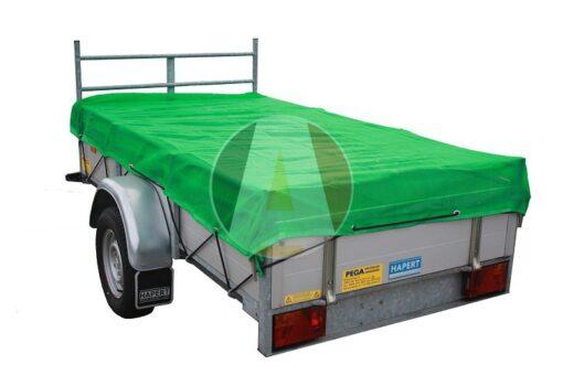 Groen fijnmazig aanhangwagennet 140x250cm incl. elast. koord