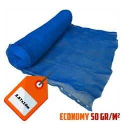 Blauw steigernet 2.57x10m 50gr/m²