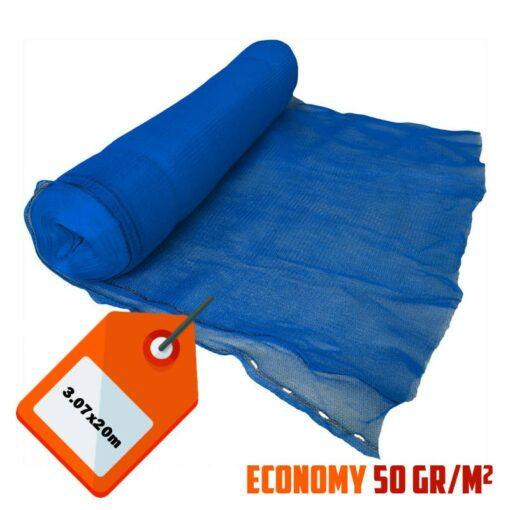 Blauw steigernet 3.07x20m 50gr/m²