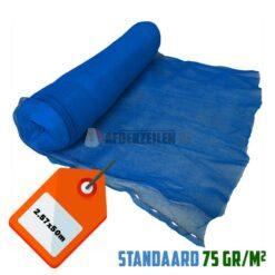 Blauw steigernet 2.57x50m 75gr/m²
