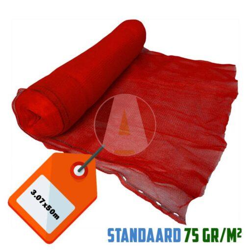 Rood steigernet 3.07x50m 75gr/m²