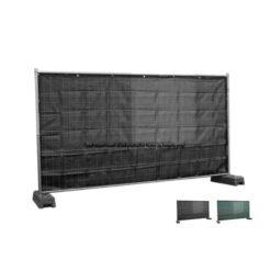 Winddoorlatend bouwhekzeilen, bouwhekdoek, bouwhekzeil,1.76x3.41m, kleur zwart, 220gr/m